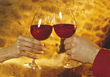 wine red symbol glasses celebrating symbolic stock image