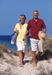 walking dunes old fitness exercise people stock image