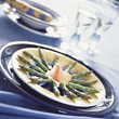 food dishes plate entrees asparagus cooked stock image