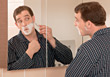 shave male adults shaving men people stock photo