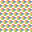 AbsSeamless Checked Fabric Pattern On Paper Texture. Geometric Backgroundtract Bricks. Seamless Pattern