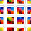 Abstract 3d Geometrical Seamless Background. Colorful Squares And Net With Cut Out Of Paper Effect