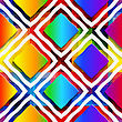 Abstract 3d Geometrical Seamless Background. Rainbow Colored Rectangles And Rim On Rainbow Background With Cut Out Of Paper Effect stock illustration