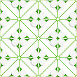 Abstract 3d Seamless Background. Diagonal Clove Leaves On Green Pattern With Cut Out Of Paper Effect