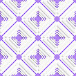 Abstract 3d Seamless Background. Diagonal Offset Squares And Purple Net Pattern With Cut Out Of Paper Effect