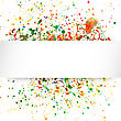 Abstract Artistic Background With Watercolor Splash Vector Multicolored Background