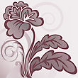 Abstract Background With A Beautiful Brown Stylized Flower stock illustration