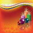 Abstract Background With Candles And Christmas Decorations