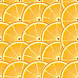 Abstract Background With Citrus-fruit Of Orange Slices. Seamless Pattern. stock vector