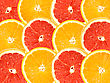 Abstract Background Of Citrus Slices. Close-up. Studio Photography stock image