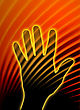 Abstract Background With Hand Silhouette - Communication Concept stock image