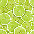 Abstract Background Of Heap Fresh Green Lime Slices. Seamless Pattern For Your Design. Close-up. Studio Photography.