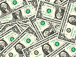 Abstract Background Of Money Pile 1 USA Dollars Bills For Your Design. Studio Photography. stock photography