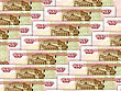 Abstract Background Of Money Pile 100 Russian Rouble Bills. Studio Photography.