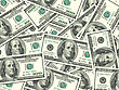 Hundred Abstract Background Of Money Pile 100 USA Dollars Bills For Your Design. Studio Photography. stock photo