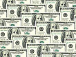 Abstract Background Of Money Pile 100 USA Dollars Bills For Your Design. Studio Photography. stock photo