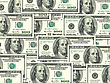 Abstract Background Of Money Pile 100 USA Dollars Bills For Your Design. Studio Photography.