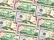 Abstract Background Of Money Pile 50 USA Dollars Bills For Your Design. Studio Photography. stock photography