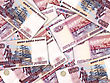 Abstract Background Of Money Pile 500 Russian Rouble Bills. Studio Photography. stock image