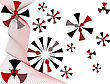 Abstract Background Of Colored Tech-snowflakes