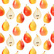 Abstract Background With Orange Fresh Pears Seamless Pattern For Your Design Close-up Studio Photography stock image