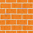 Abstract Background As Wall Of Red Bricks For Your Design. Seamless Pattern. Vector Illustration. stock illustration