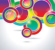 Abstract Background With Color Circles stock vector