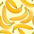 Abstract Background Of Yellow Bananas. Seamless Pattern. Close-up. Studio Photography