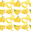 Abstract Background With Yellow Fresh Bananas Seamless Pattern For Your Design Close-up Studio Photography