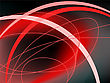 Abstract Black And Red Background With Curved Lines