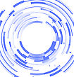Abstract Blue Background Frame Blended Elements Striped Transparency Cut From Circles - Vector