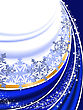 Abstract Blue New Year's Background With Folds And Snowflakes