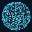 Abstract Blue Sphere On Dark Background stock image
