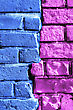 Abstract Bright Multi-colored Brick Wall Texture stock photo