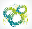 Abstract Bubble From A Ribbon With Green Grass, Vector Illustration