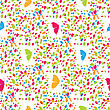 Abstract Butterflies And Spots Seamless Pattern. Vector Illustration For Design Of Gift Packs, Wrap, Patterns Fabric, Wallpaper, Web Sites And Other