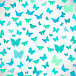 Abstract Butterfly Background. Vector Illustration Of Blue Butterflies. Soft Colors Vector Background For Wedding, Greeting, Invitation Card, Poster, Banner And Other Design