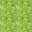 Abstract Camouflage Background With Natural Spring-summer Foliage. Seamless Pattern. Close-up stock image