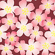 Abstract Cherry-flowers Background. Seamless Pattern.