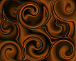 Abstract Chocolate Swirls For Background
