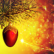 Abstract Christmas Backgrounds With Beauty Lights And Bokeh stock photography