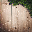 Abstract Christmas Backgrounds With Noel Decorations And Old Wooden Desk stock photography