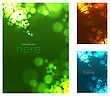 Abstract Circular Bokeh Background. Vector Illustration Set stock vector