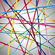 Abstract Color Lines Net Composition