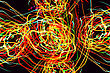 Abstract Color Pattern Of Motion Neon Lights stock photo