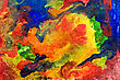 Messy Abstract Colorful Background . Painted With Various Watercolors stock image