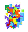 Abstract Colorful Geometric Pattern On White