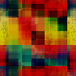 Abstract Colorful Seamless Background. Rainbow Colored Old Ganged Blurred Mosaic Pattern stock illustration