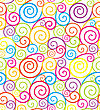 Abstract Colorful Swirl Seamless Composition Made Of Spirals