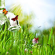 Spring Abstract Environmental Backgrounds For Your Design stock photography